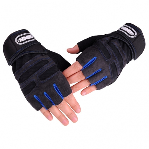 Fitness gloves for men and women half-finger breathable exercise equipment dumbbell horizontal bar anti-skid half-finger exercise gloves