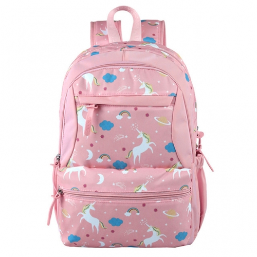 Schoolbag for primary school students 2mi Grade 5 cute cartoon large-capacity backpack to reduce the burden on breathable backpacks