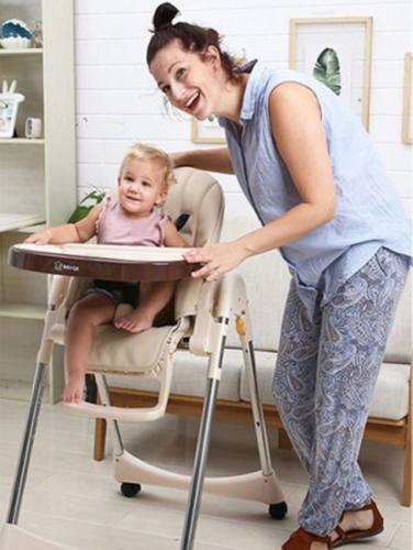 Baby dining chair folding household portable adjustable children dining chair multi-functional baby dining table and chair
