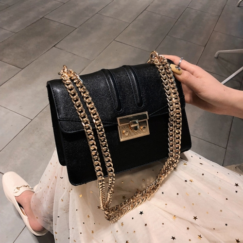 2019 new fashion Korean fashion slant bag small square bag foreign gas chain bag single shoulder bag