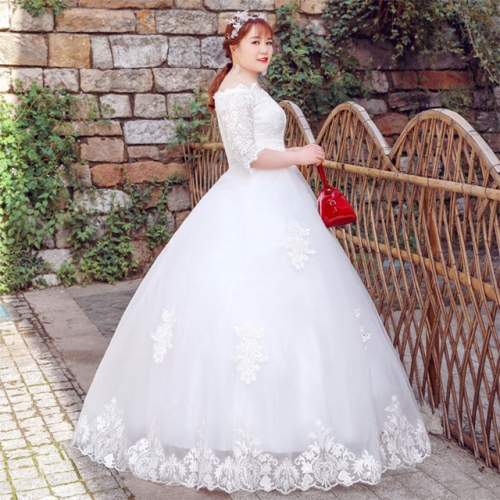 "The bride is 2019 thin, the new style is fatter and the shoulder girl is covered with the word ""arm"" with simplicity."