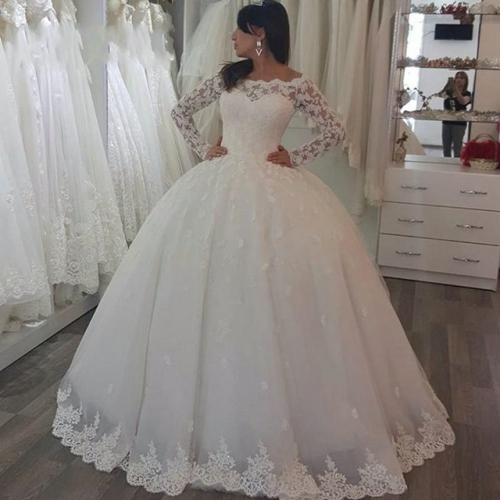 Breast wiping master wedding dress 2019 new bridal dress tail Custom Wedding Gown