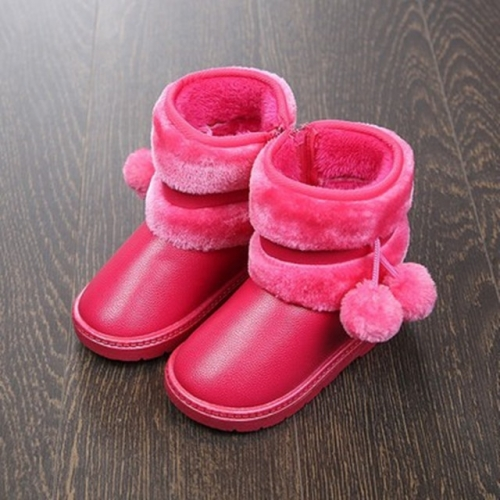 Children's snow boots, boys' boots, thickened velvet and anti-skid boots, baby cotton shoes, girls' middle canister.