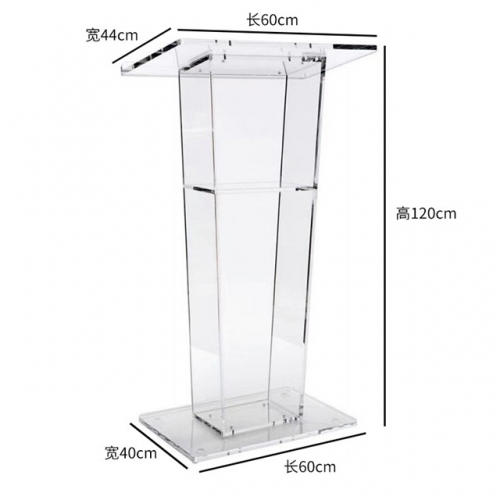 Acrylic high-end atmospheric podium reception stage presided over the wedding ceremonial platform plexiglass
