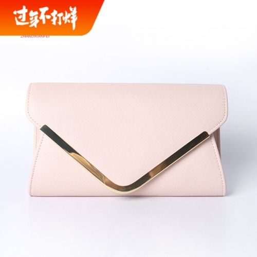 Original design 2020 women's bag new cowhide bag with chain in hand and one shoulder oblique across dinner envelope bag