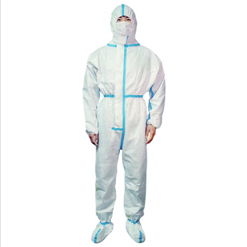 Full-body protective overalls laboratory epidemic prevention disposable isolation clothing non-woven hooded isolation clothing
