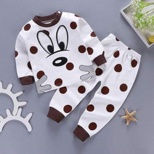 Children's underwear set baby flat waist pure cotton autumn clothes long johns 1Mel 5Mel 7-year-old boys and girls spring and autumn clothes 3