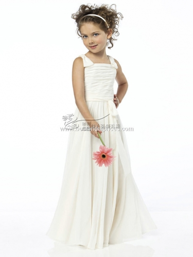 Big girl white evening dress flower girl wedding dress fluffy skirt summer piano performance dress