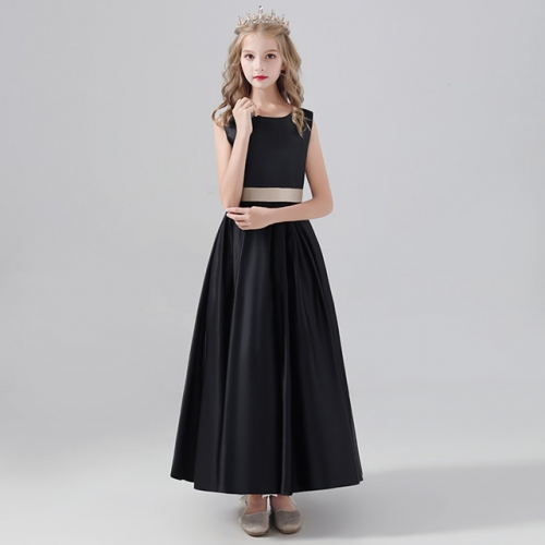 Children's dress violin performance dress girl's black long skirt piano stage performance dress