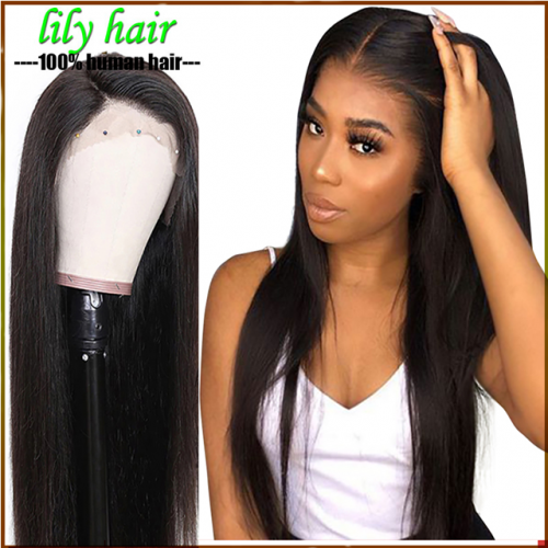 Straight Lace Front Human Hair Wigs For Women 150% density