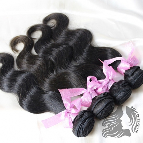 Body Wave Human Hair Weft 10A Natural color
