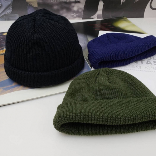 Autumn and winter trendy wool hat Korean version of knitted hat for men and women the original style Yifan youth Wu Yifan the same style melon skin ha