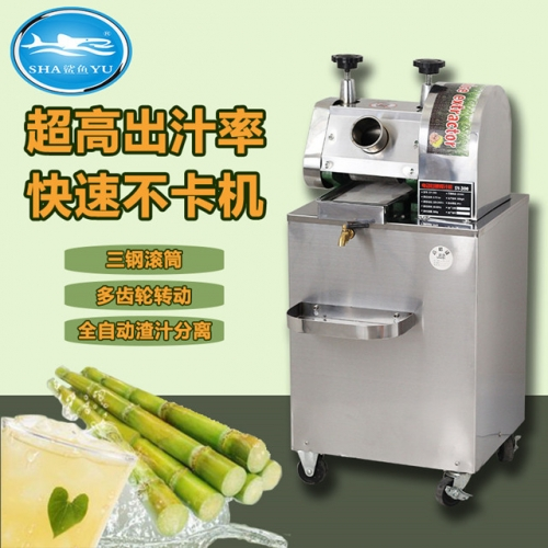 300X commercial electric sugarcane juicer fully automatic sugarcane machine