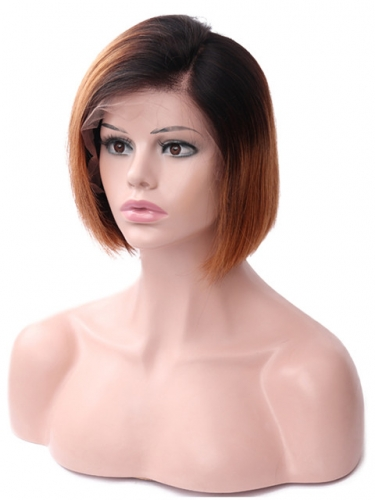 Front Lace wig omber Human Hair wig bobo