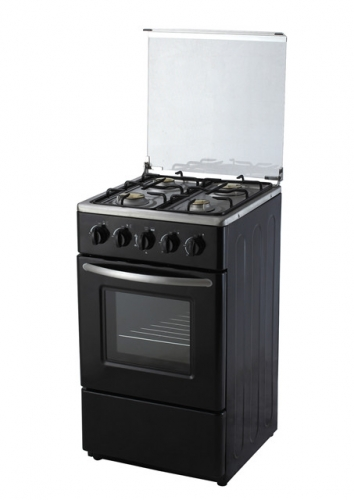 Retro black conjoined oven integrated stove gas oven gas stove European gas stove