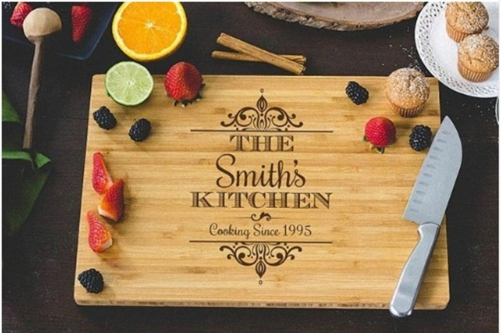 Personalized wedding gifts, lettering boards, bamboo chopping boards, weddings, engagement, housewarming, anniversary gifts