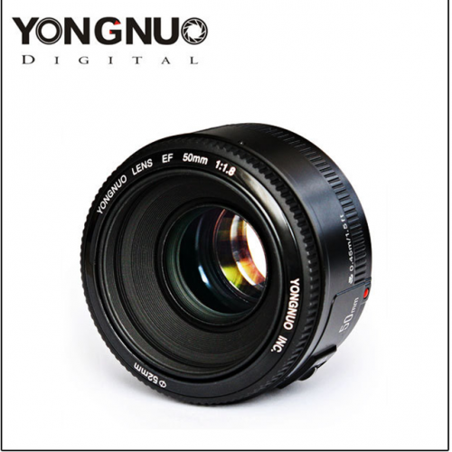 Yongnuo YN 50mm F1.8 Canon port LED condenser standard lens canon port