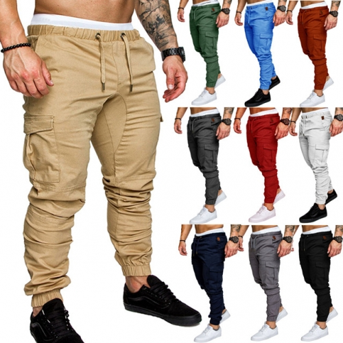 Men s skinny casual jeans stretch denim pants long trousers